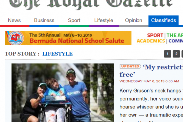 We Made the Front Page of the Royal Gazette in Bermuda!